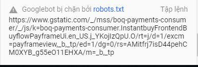 website chặn bot google